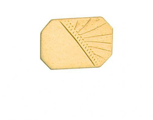 Half Engraved Stick Pin 9ct Yellow Gold Made To Order in Jewellery Quarter B''ham